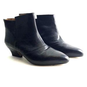 Earthie's Del Rey Black Leather Bootie